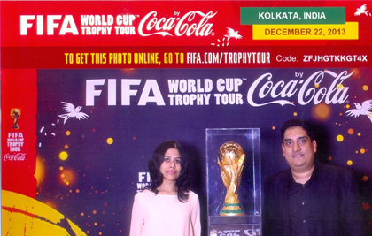 Fifa World Cup With His Wife