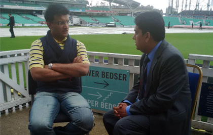 With sourav ganguly